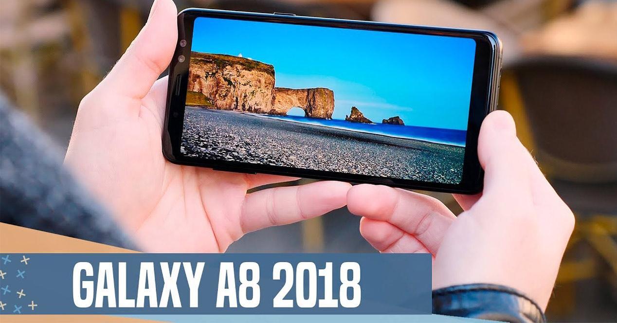 Pantalla infinita del Samsung Galaxy A8