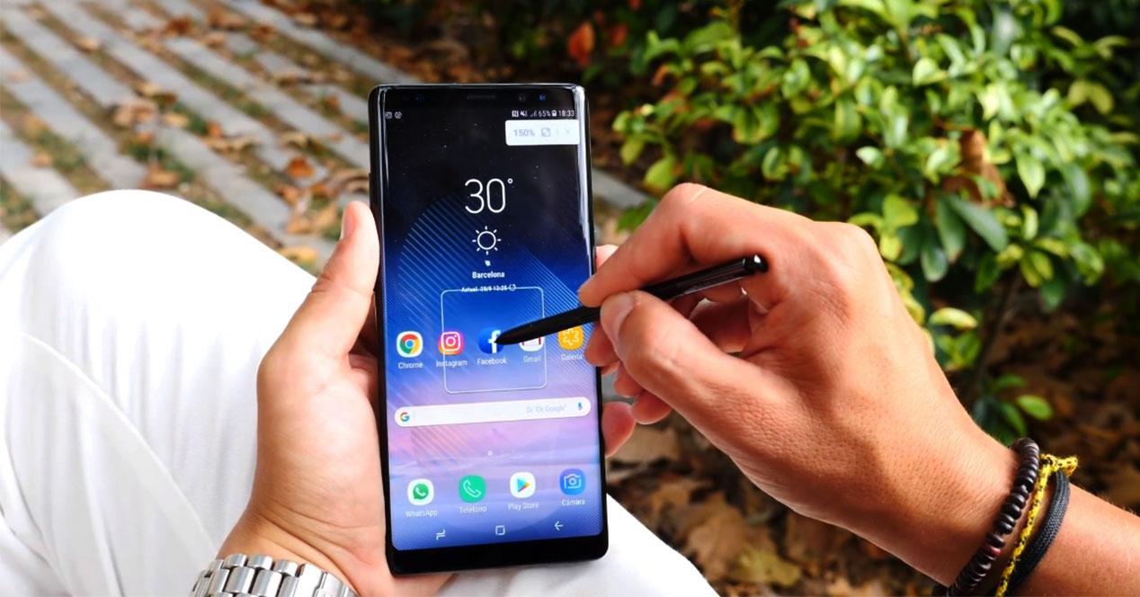 Pantalla del Samsung Galaxy Note 8 con S Pen