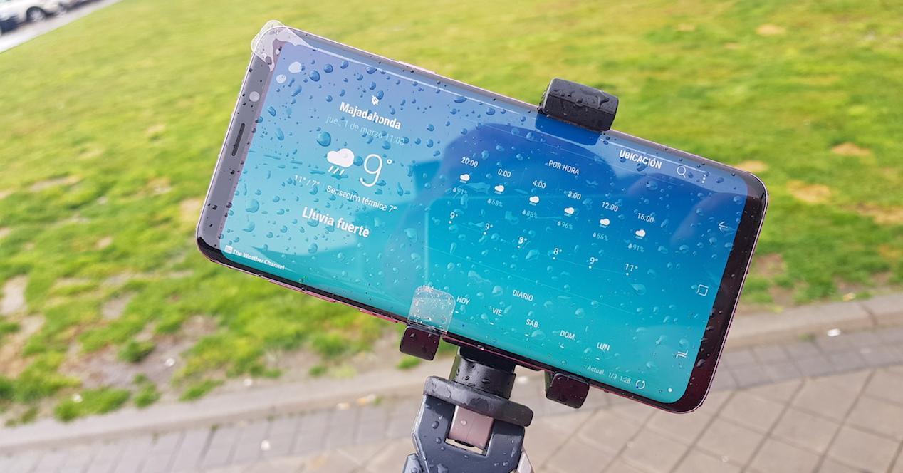 Samsung Galaxy s9 plus mojado 4