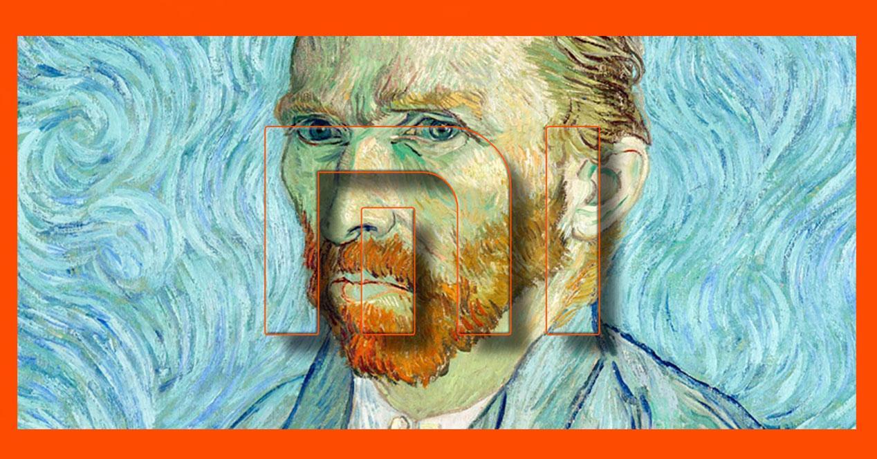 Pintor van-Gogh con logo de Xiaomi