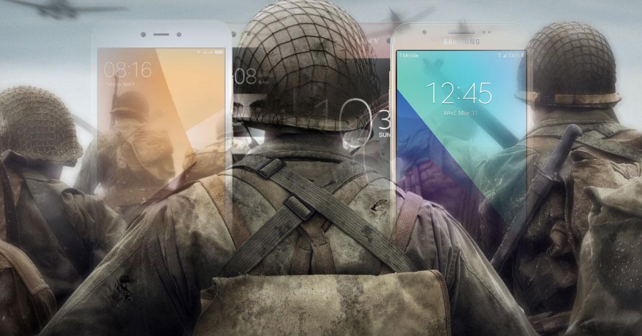 Soldado guerra moviles