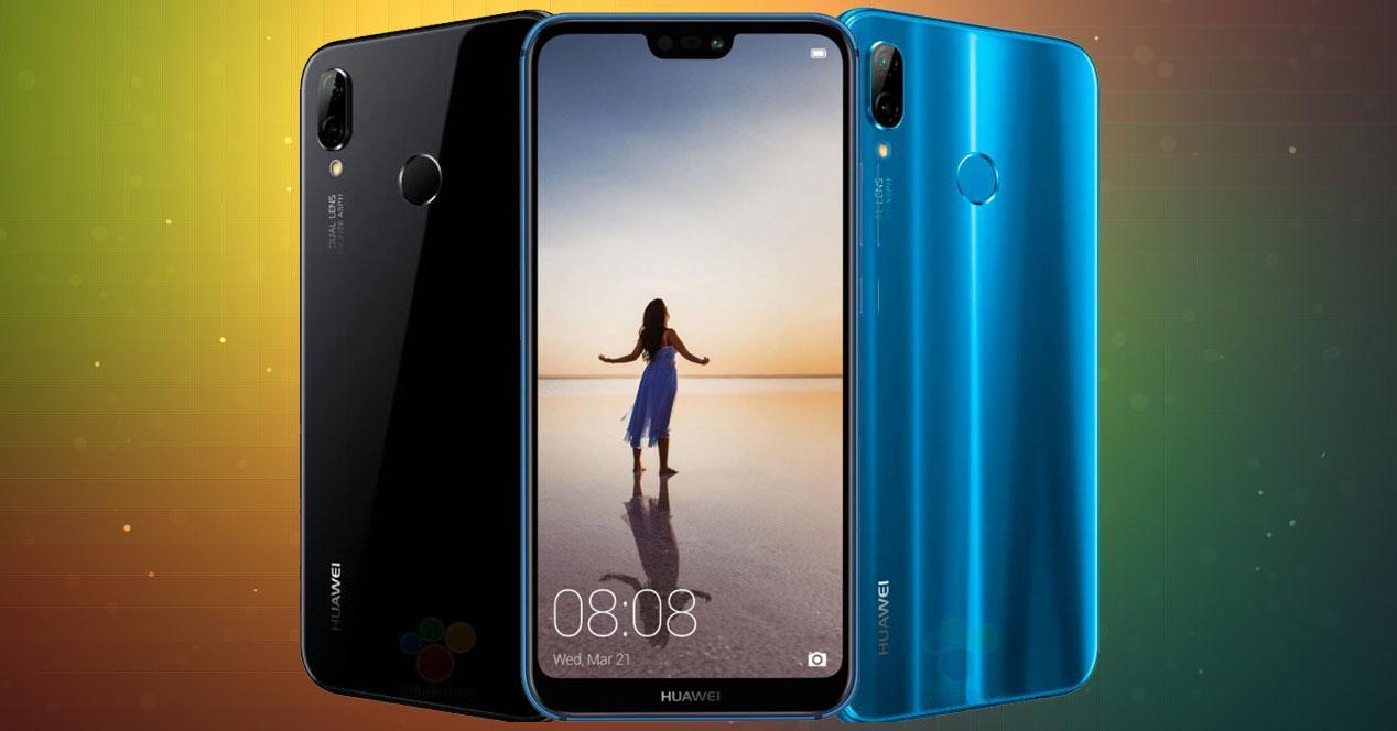 Huawei P20 Lite en azul y negro