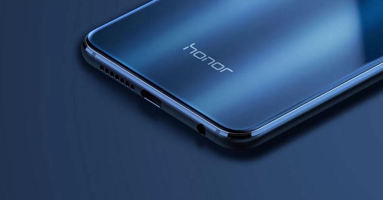 movil logo honor azul