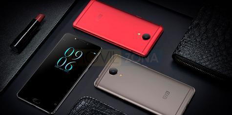 Elephone P8 rojo, negro y gris