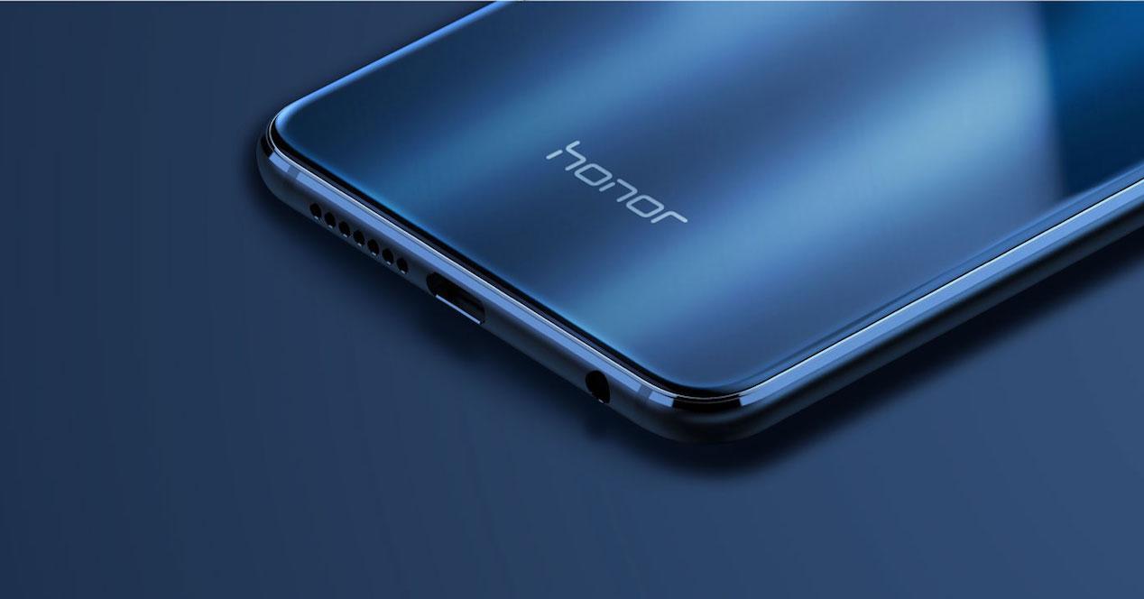 Logo de Honor en smartphone