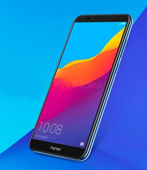 Honor 7A con pantalla encendida