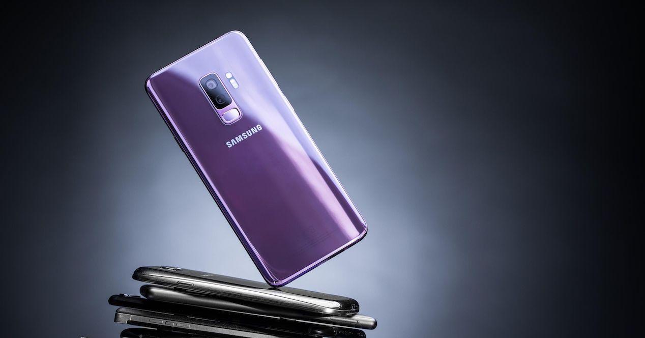 Samsung Galaxy S9 por detrás