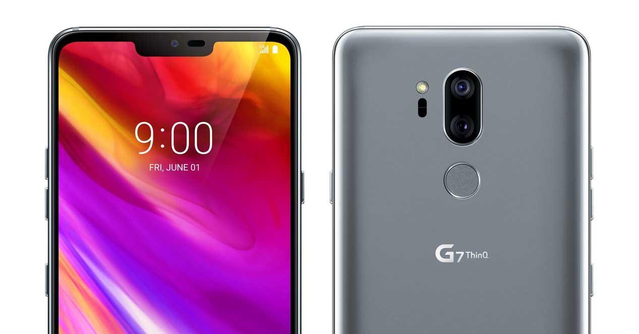 Frontal y trasera del LG G7 ThinQ