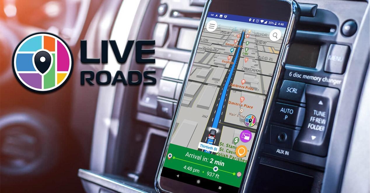 Navegador GPS Live Roads