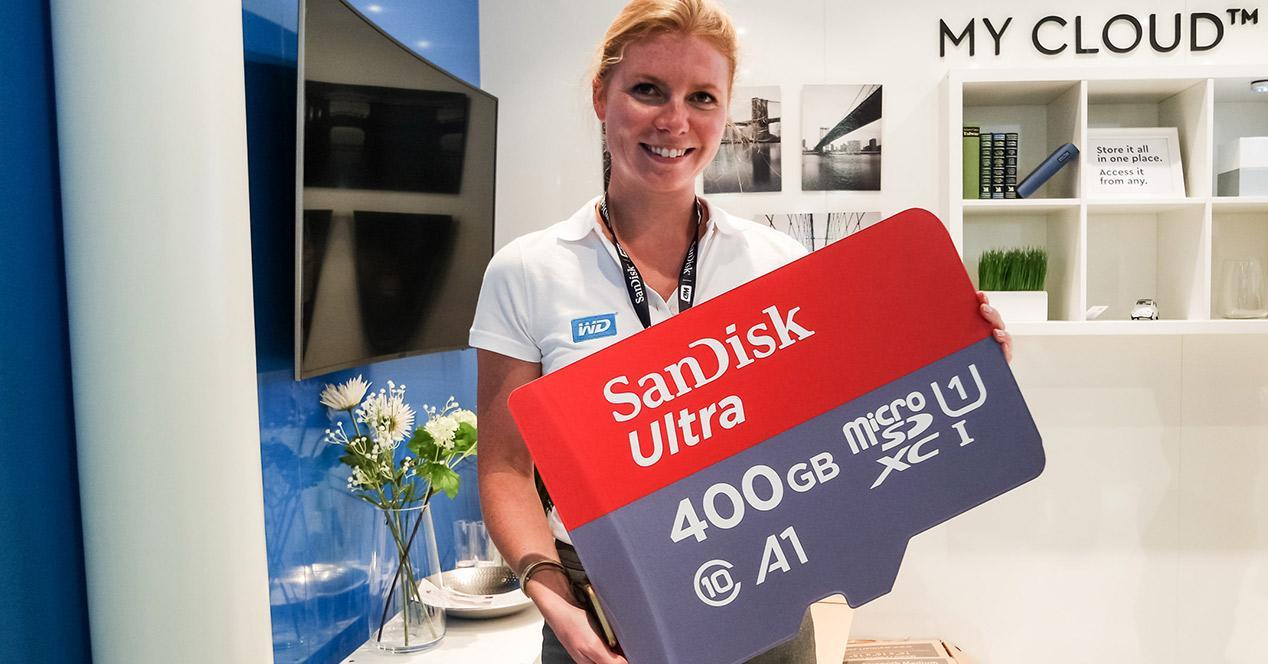 Tarjeta micro SD SanDisk Ultra de 400 GB