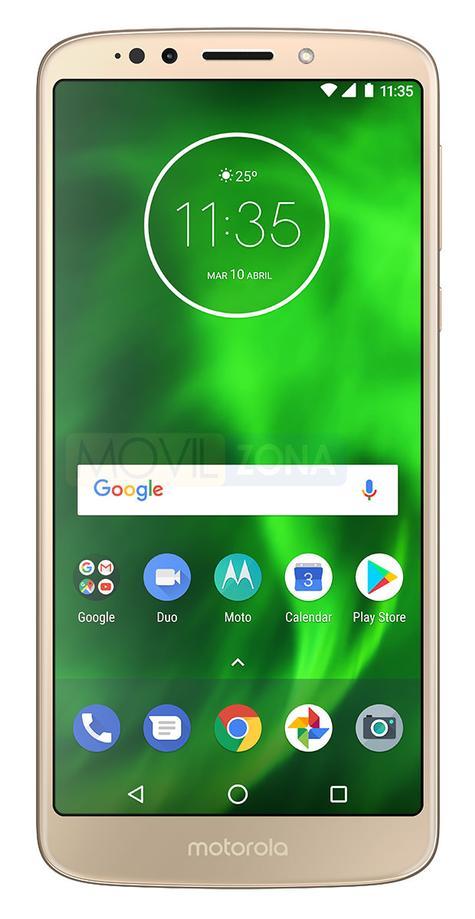 Motorola Moto G6 Play dorado vista frontal