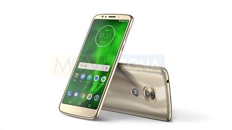Motorola Moto G6 Play dorado vista delantera y trasera