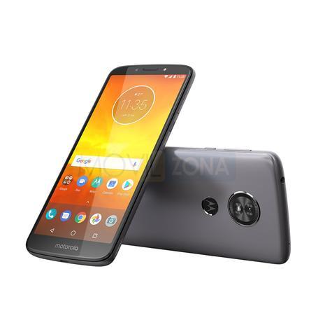 Motorola Moto e5 gris vista delantera y trasera