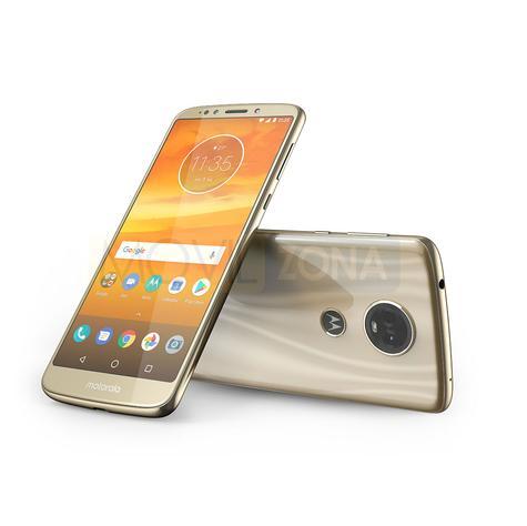 Motorola Moto E5 Plus dorado vista delantera y trasera