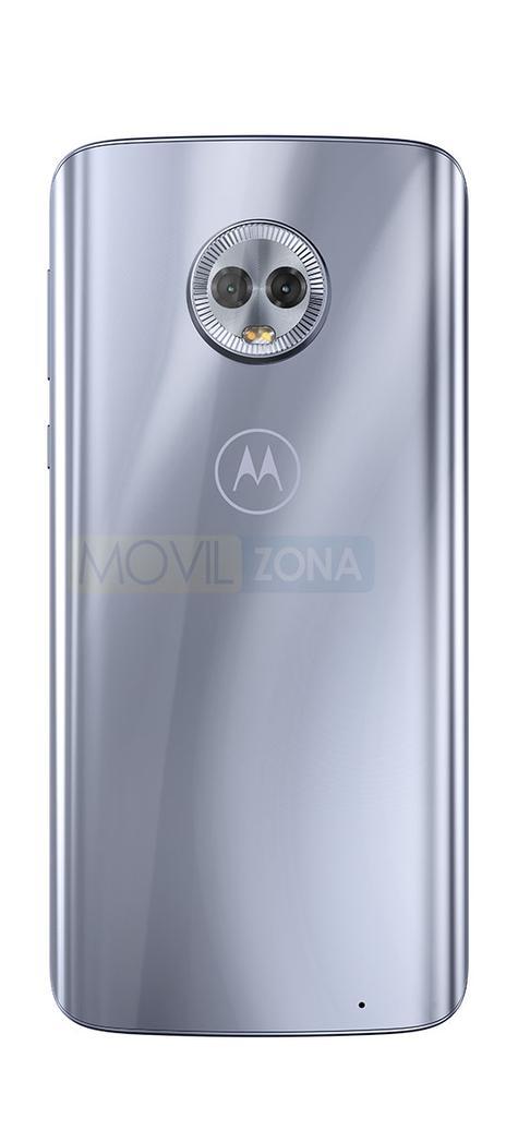 Motorola Moto G6 Plus plateado detalle de la cámara