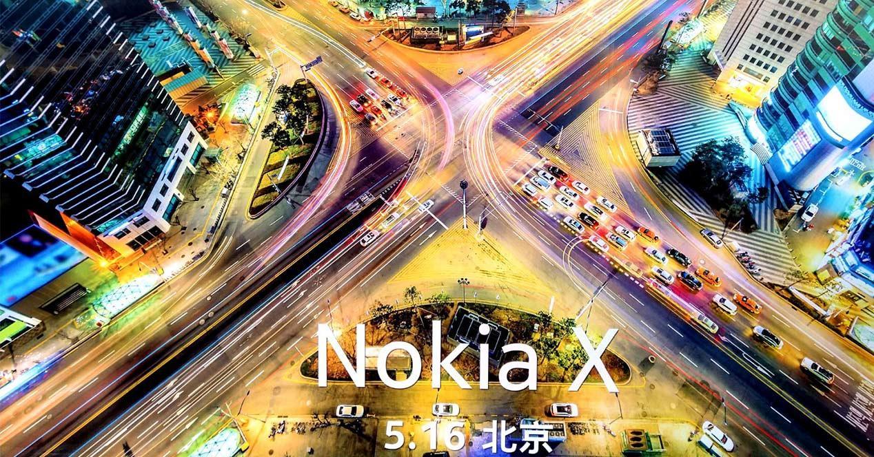 Cartel de presentación del Nokia X