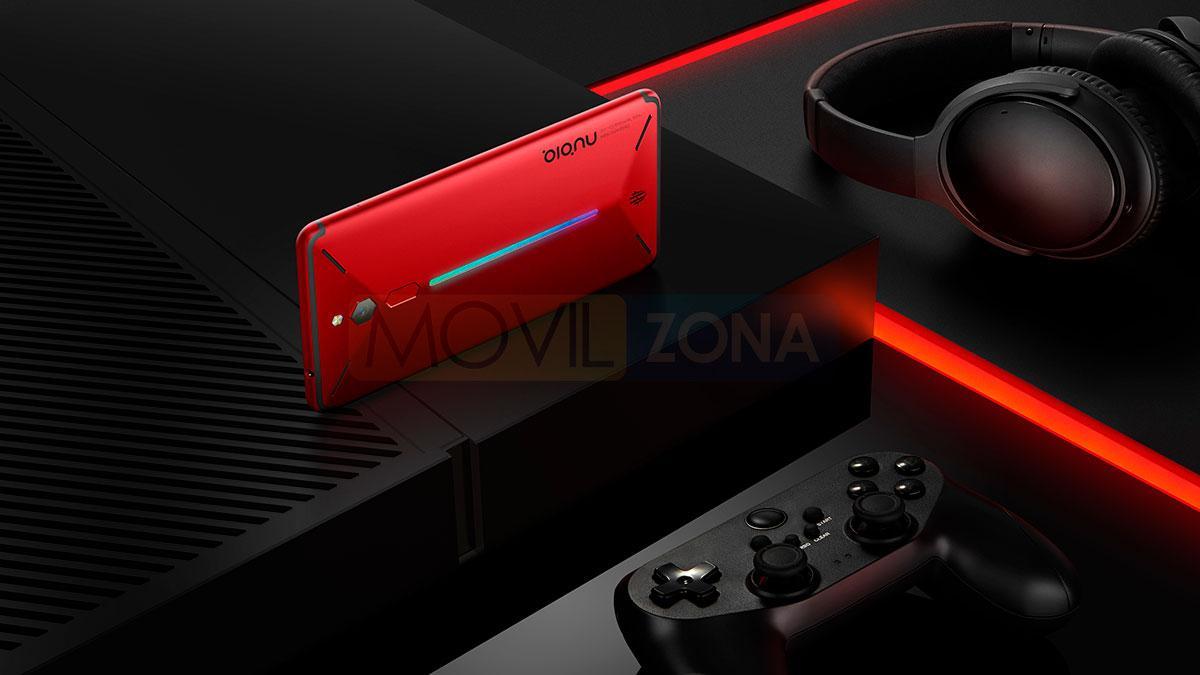Nubia Red Magic rojo con mando de consola