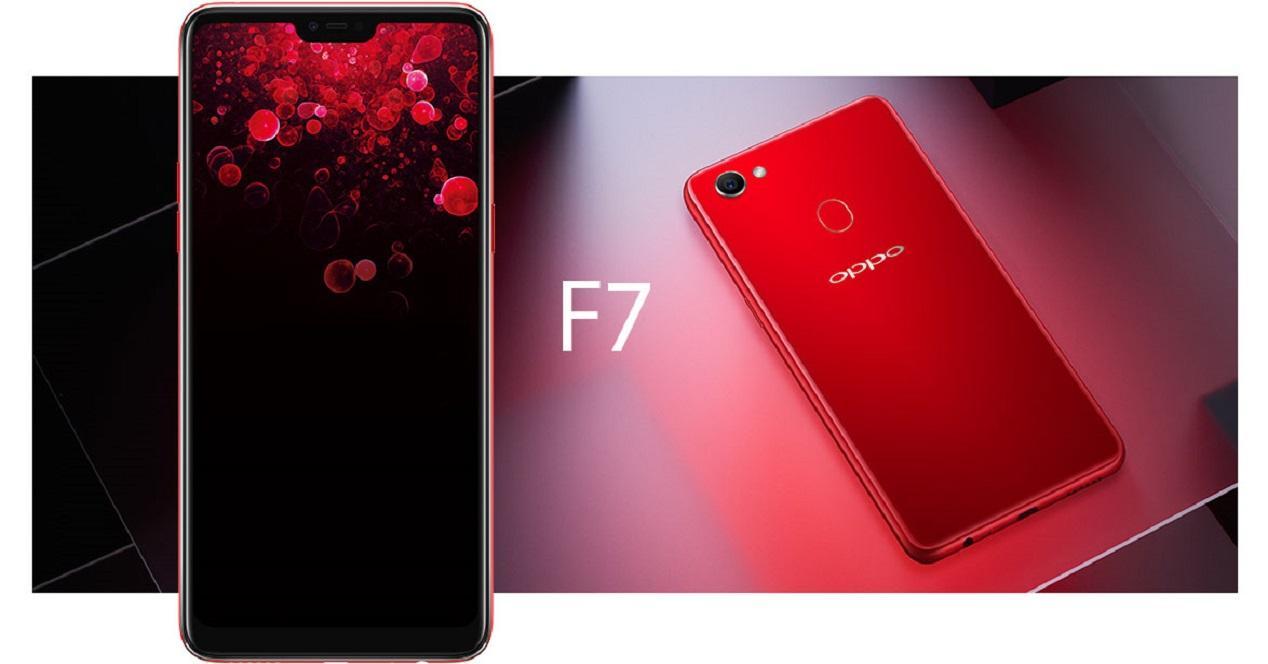 Oppo F7-diseño