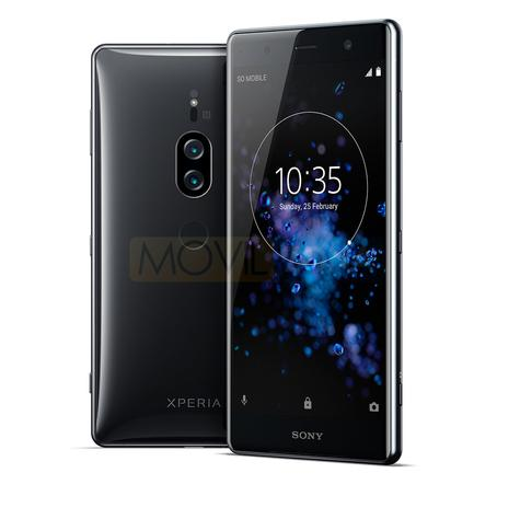 Sony Xperia XZ2 Premium negro vista delantera y trasera