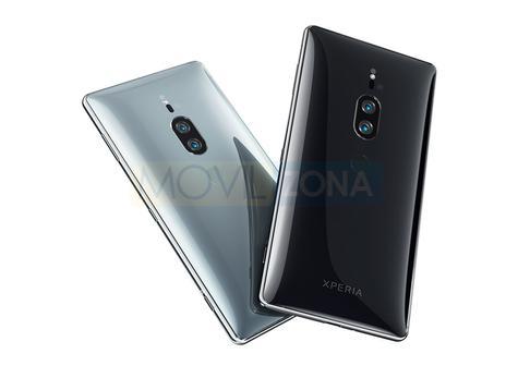 Sony Xperia XZ2 Premium negro y azul claro