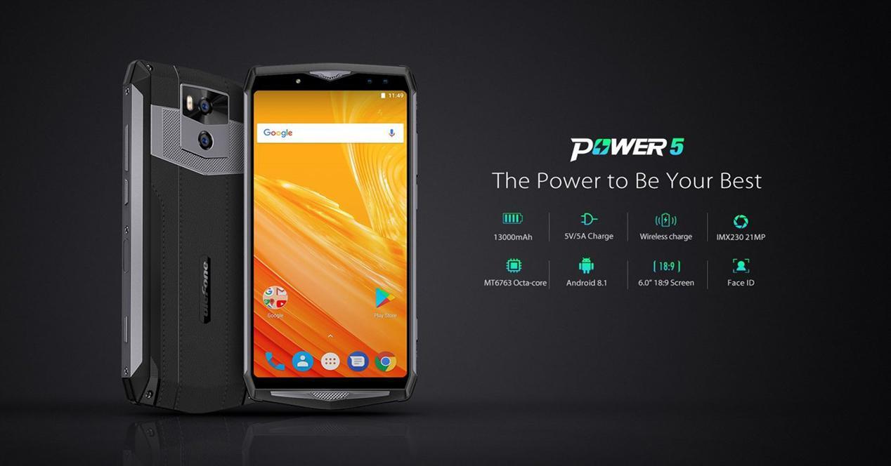 Ulefone Power 5 el teléfono con mejor batería