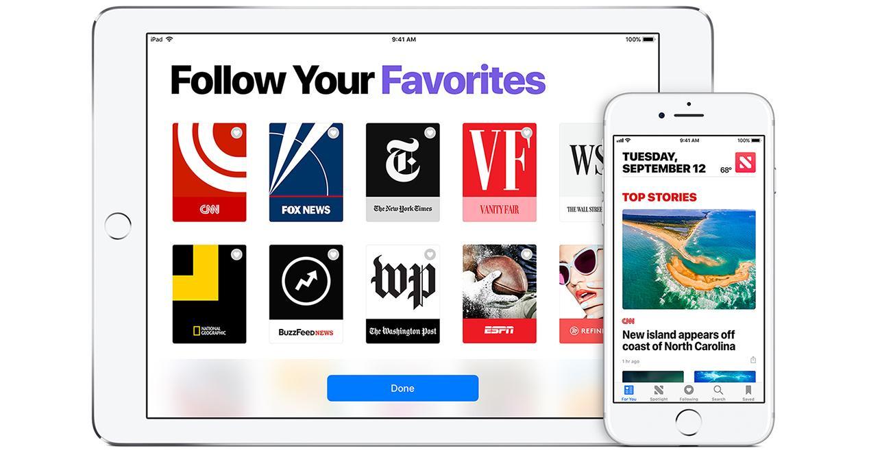 Versión de pago de Apple News