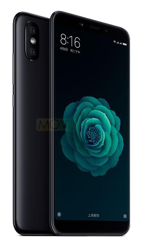Xiami MI 6X con una rosa verde en la pantalla