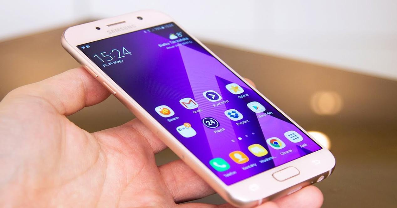 Lateral del Samsung Galaxy A5 2017