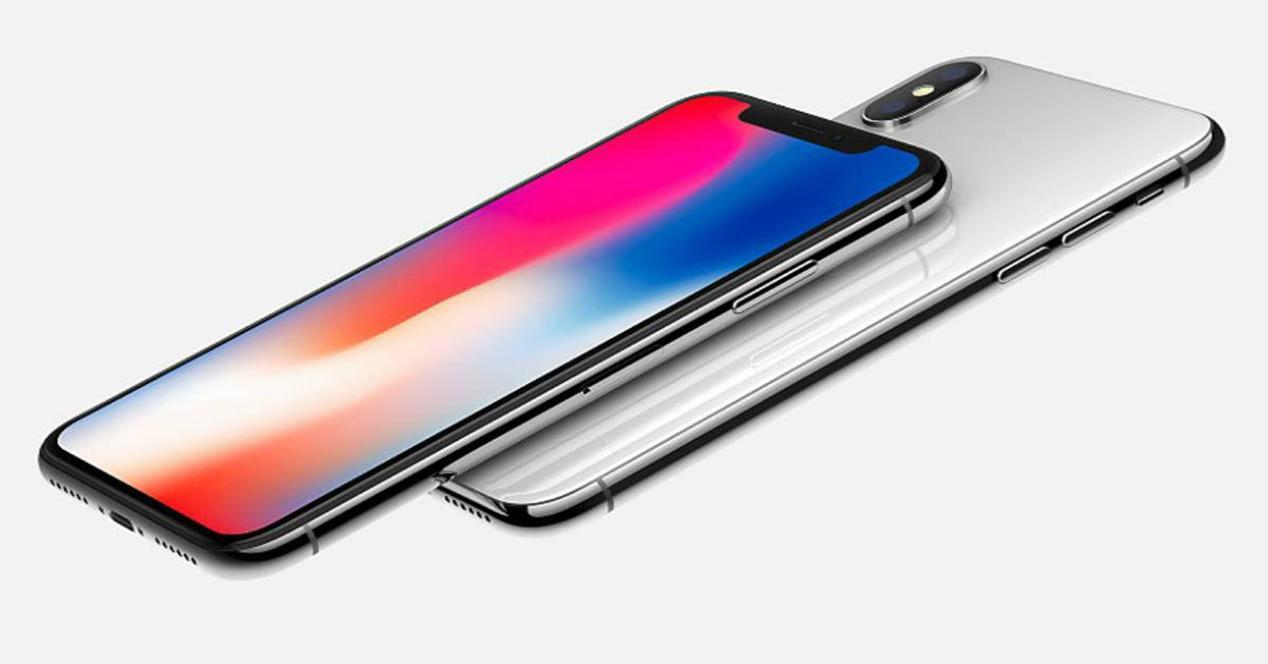 Frontal y trasera del iPhone X