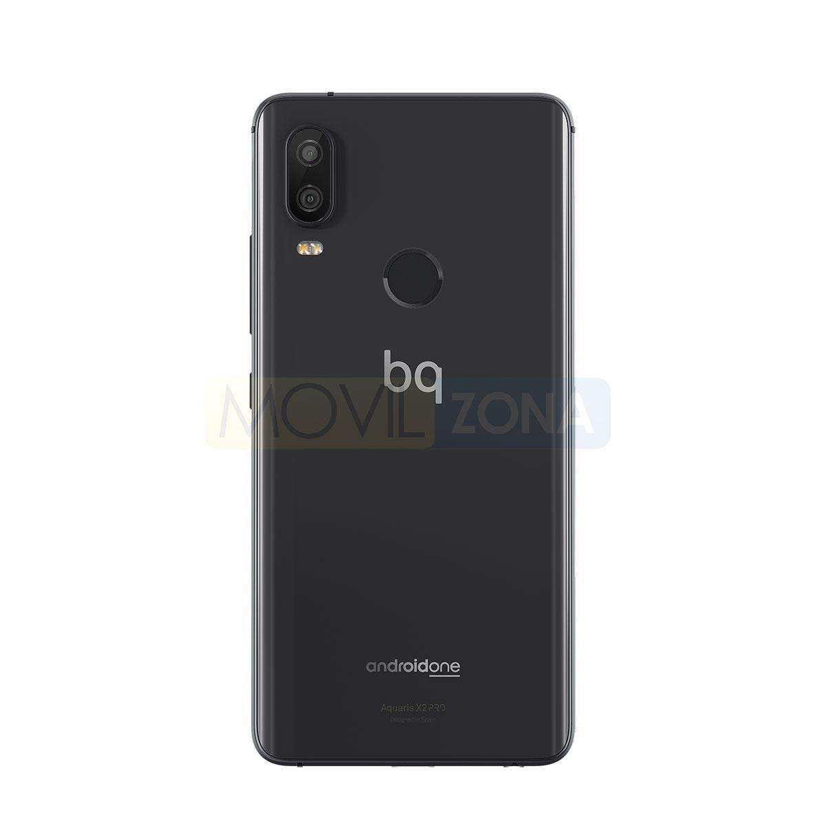 BQ Aquaris X2 Pro negro vista trasera
