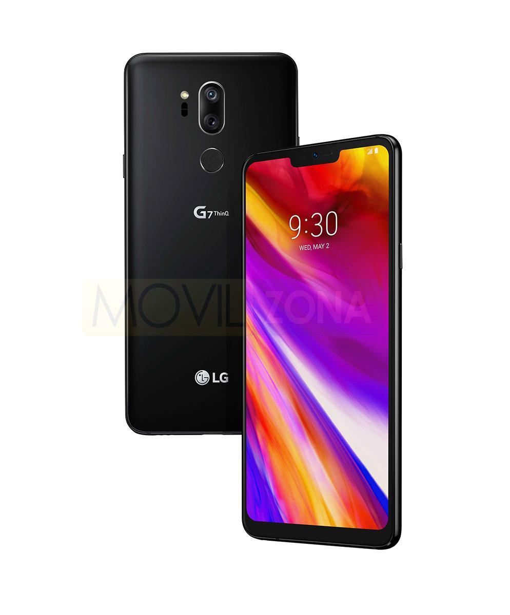 LG G7 frontal y trasera
