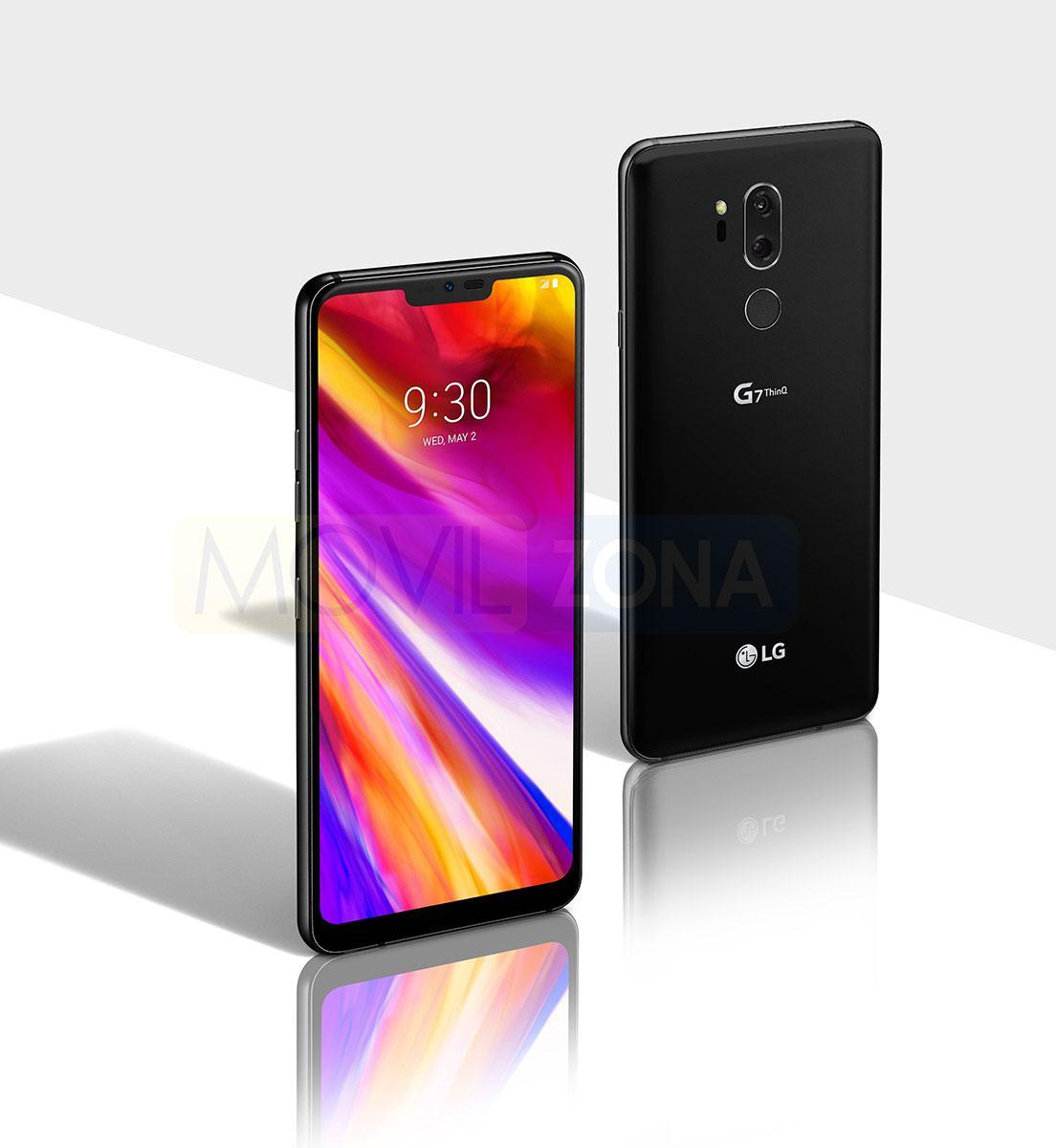 LG G7 con pantalla encendida