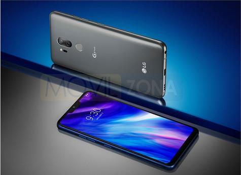 LG G7 con pantalla azul