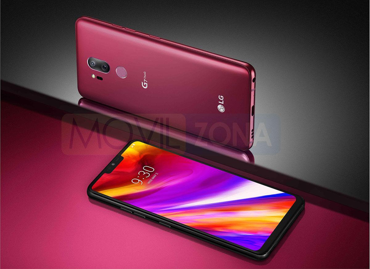 LG G7 rojo o morado