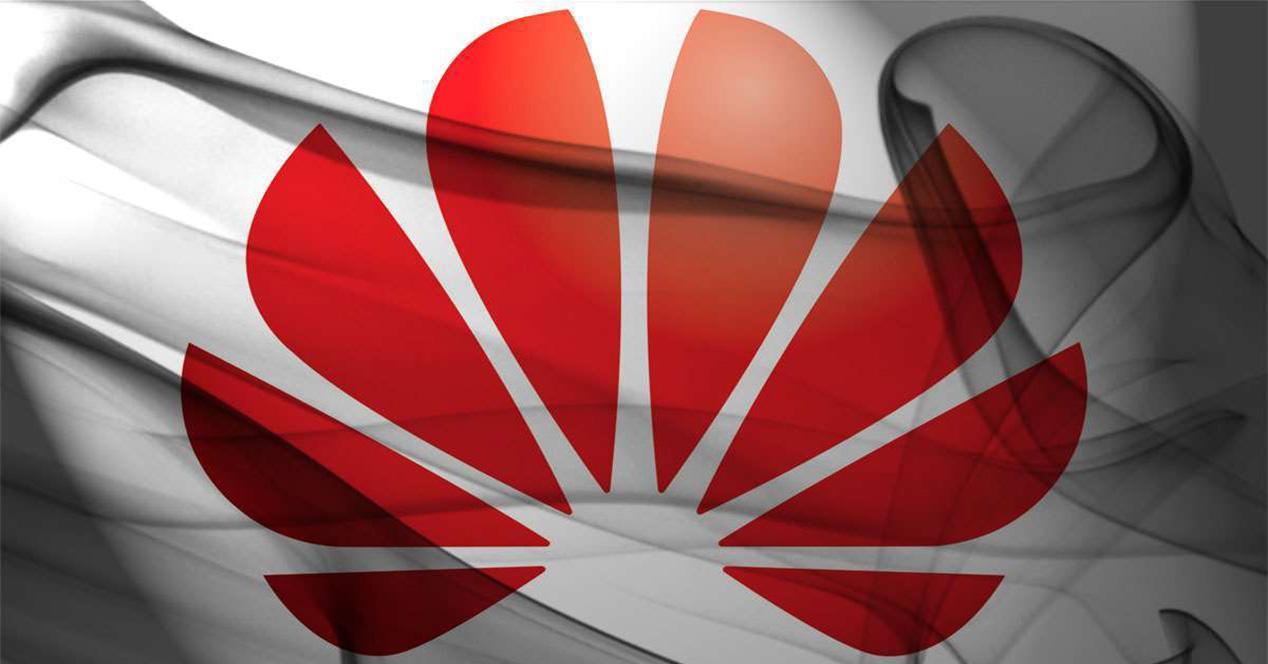 Logotipo de Huawei sobre una sábana