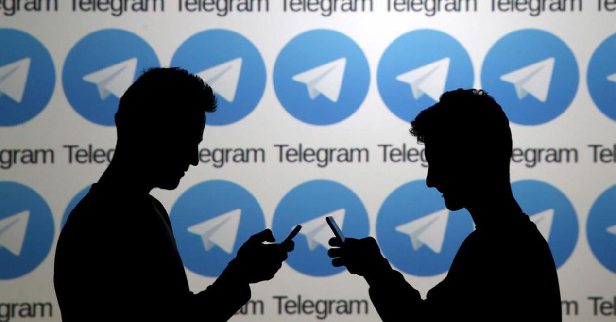Logotipo de Telegram como fondo