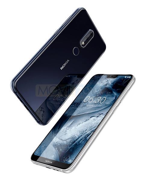 Nokia X6 2018 frontal y trasera