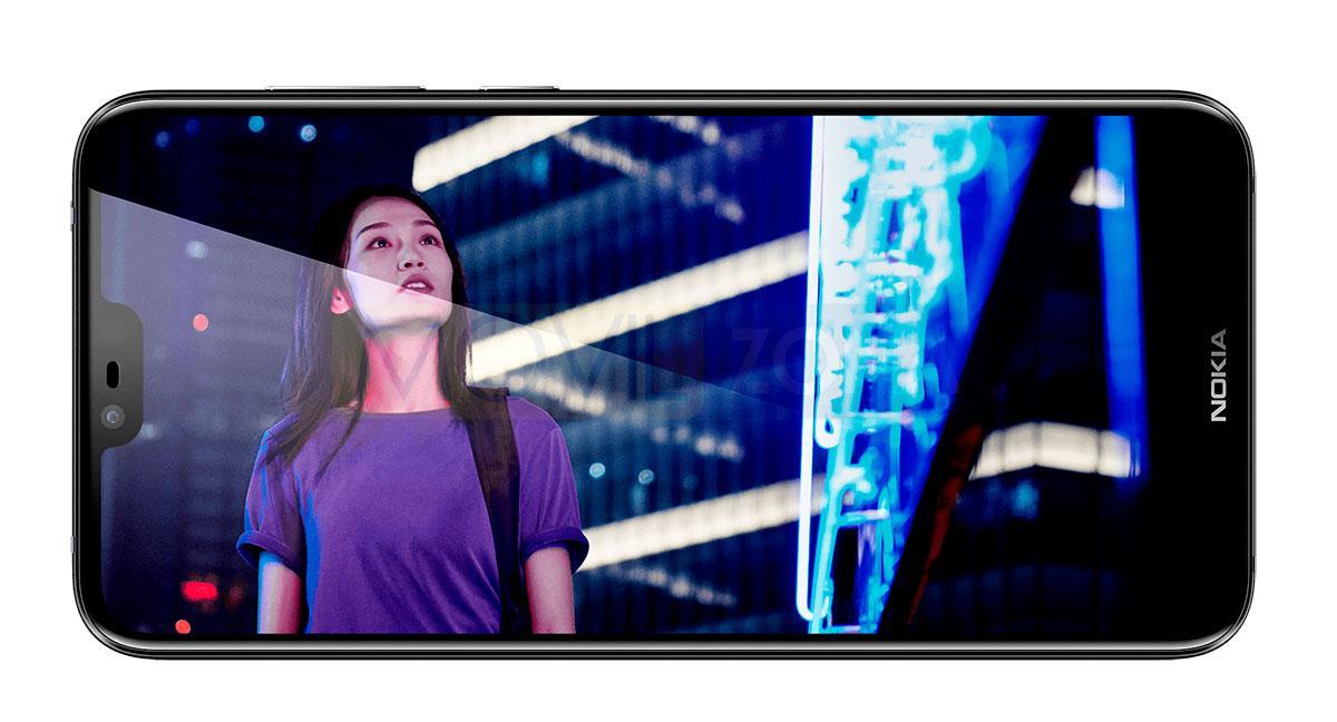 Nokia X6 2018 con chica en la pantalla