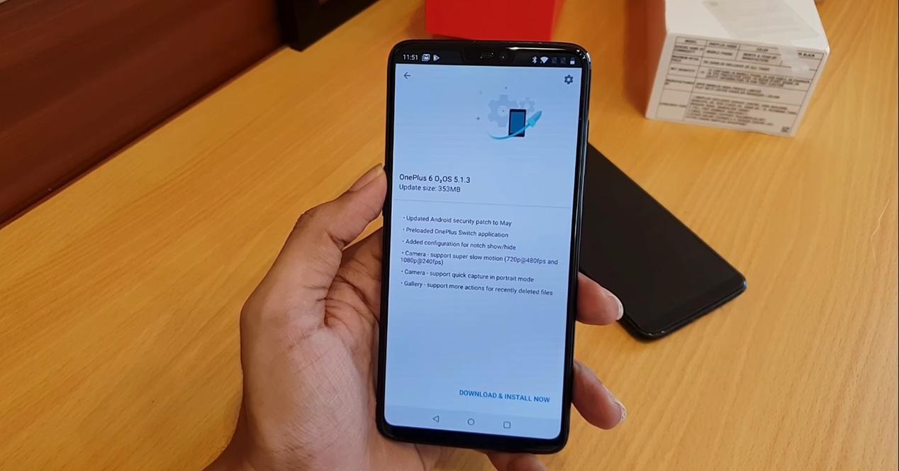 Actualización OTA para el OnePlus 6