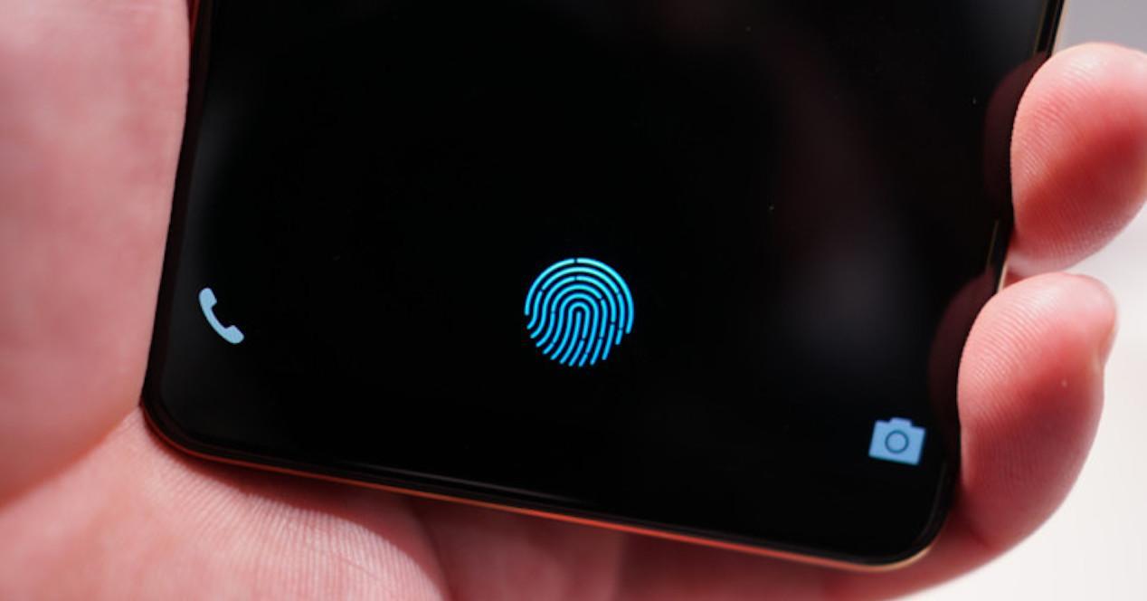 sensor huellas movil