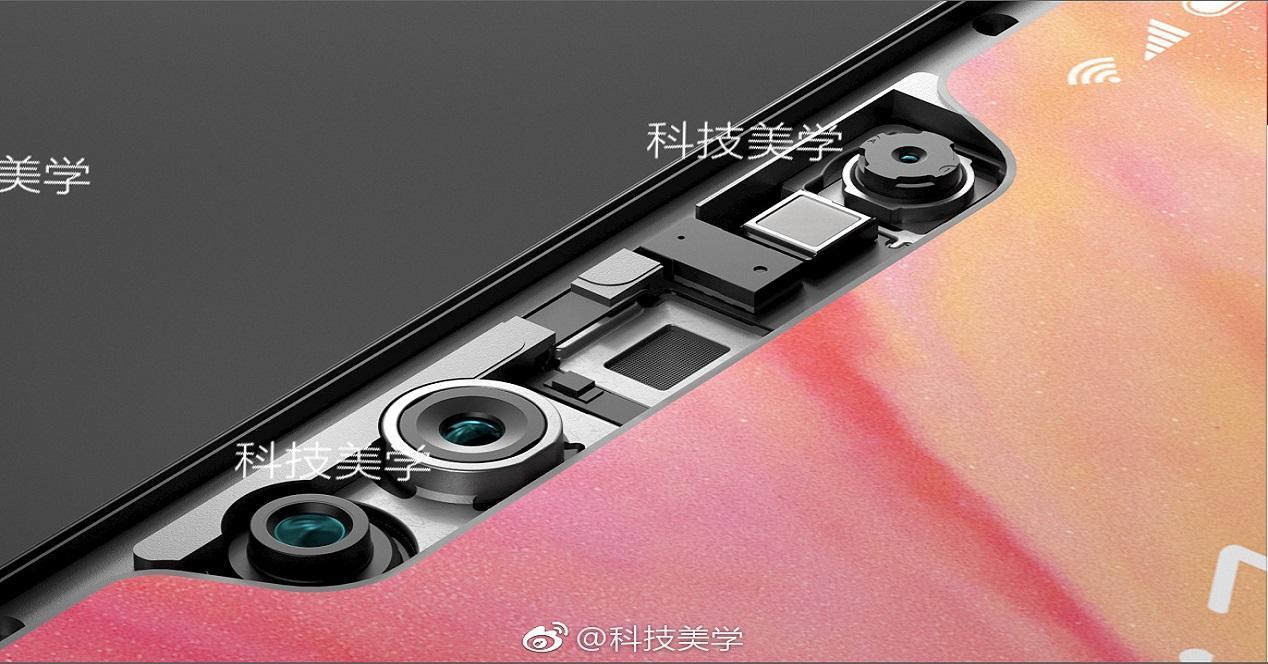 sistema de reconocimiento facial del Xiaomi Mi 7-3D Structured Light