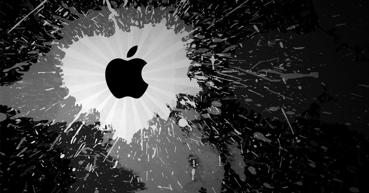 Logotipo de Apple en la oscuridad