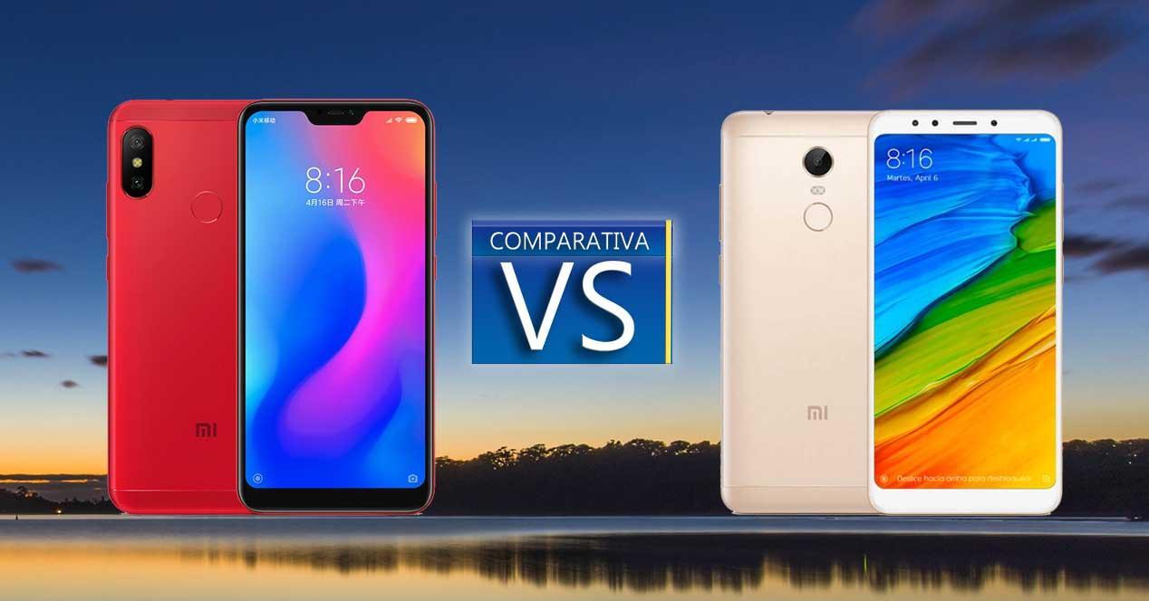 Comparativa Xiaomi Redmi 6 Pro vs Redmi 5 Plus