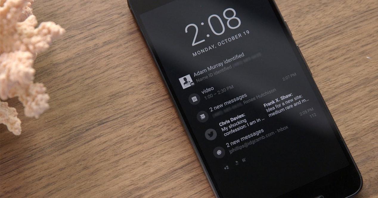 Pantalla Ambient Display del Google Pixel 2 XL