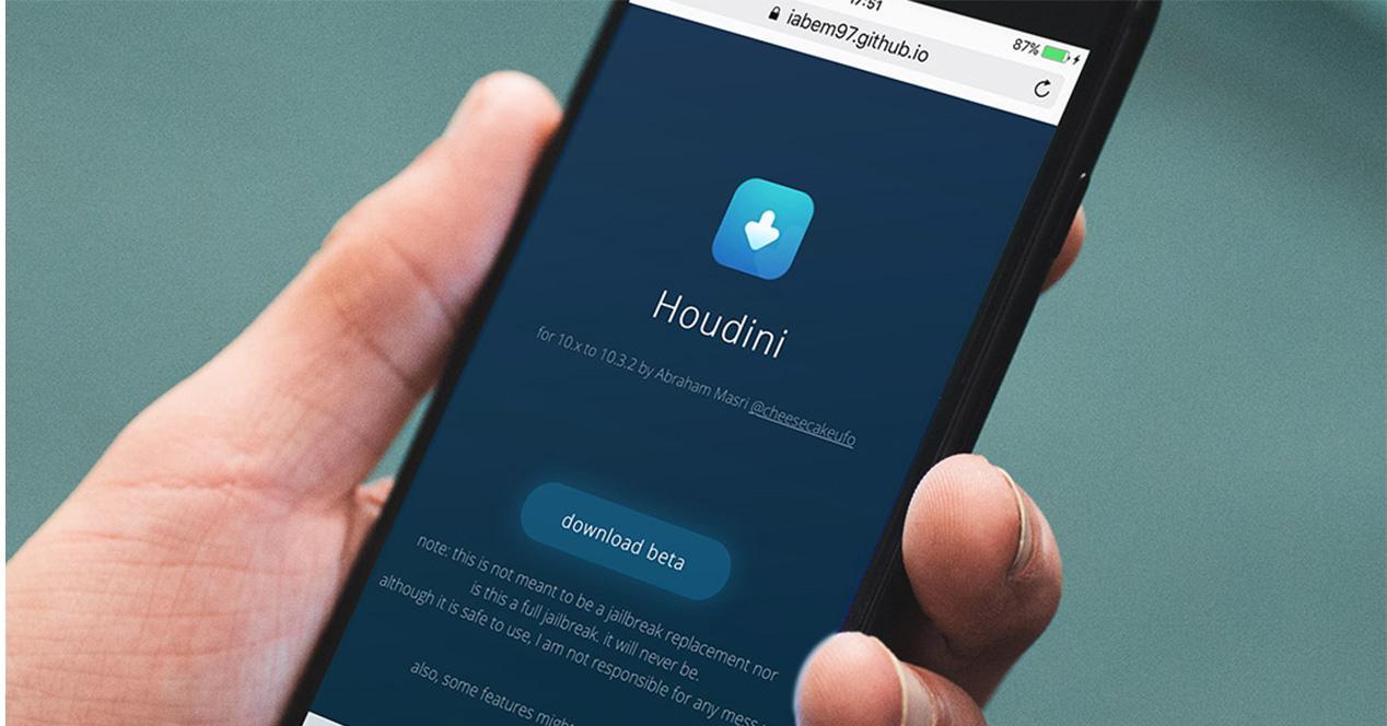 Herramienta Houdini para personalizar iPhone