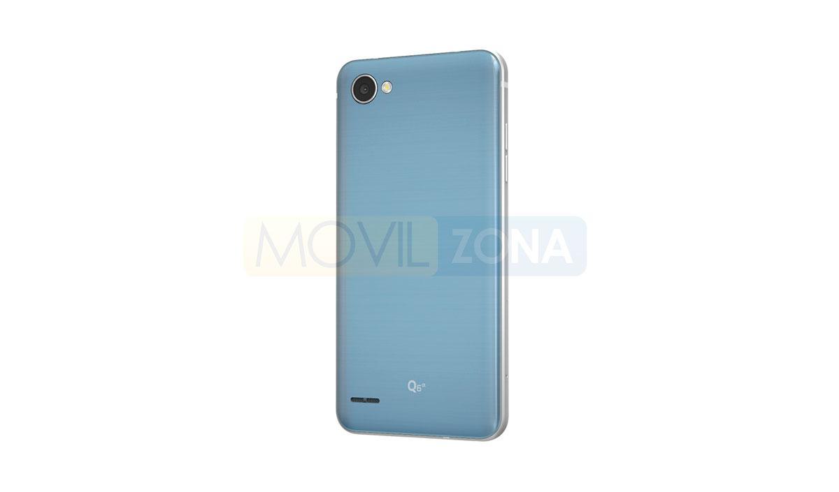 LG Q7 Alpha azul vista trasera