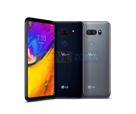 LG V35 ThinQ negro y gris