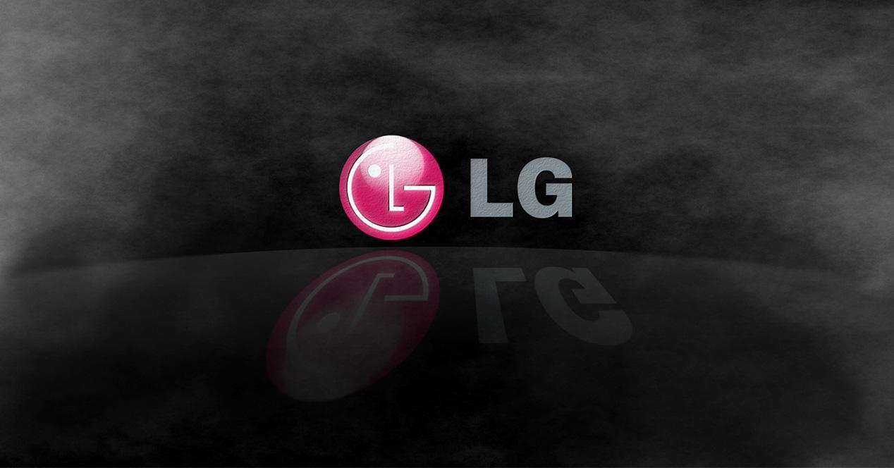 Logotipo de LG sobre un fondo oscuro