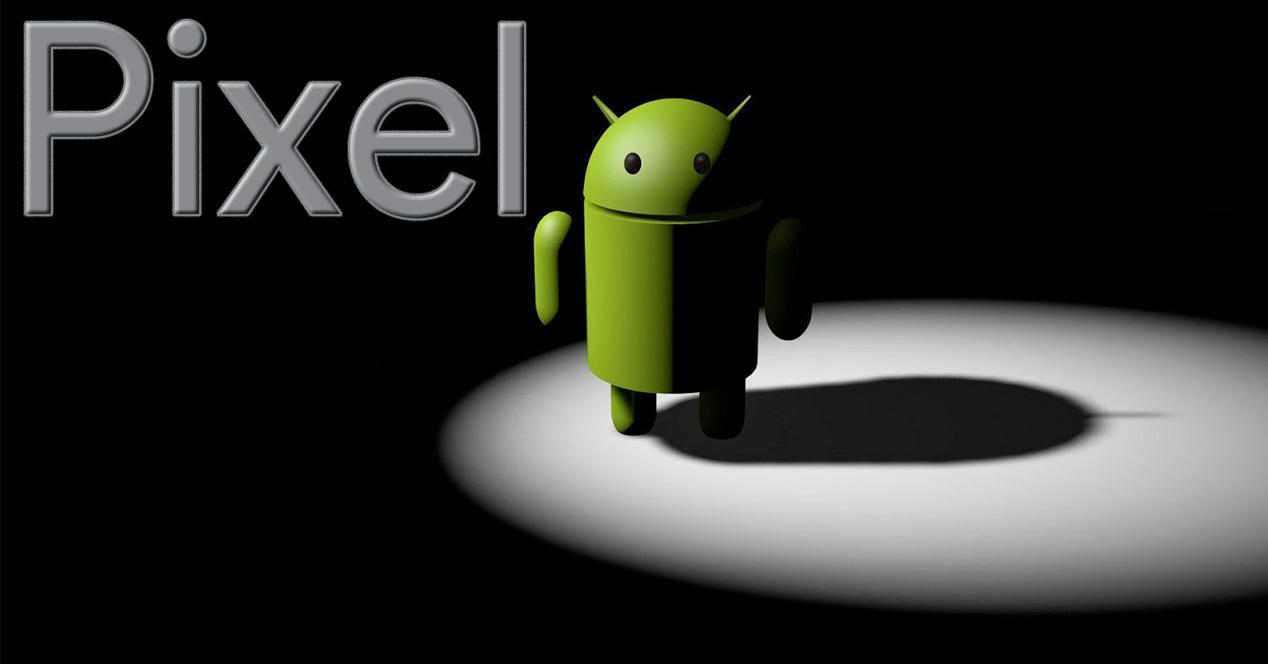 Logo de Google Pixel junto al icono de Android
