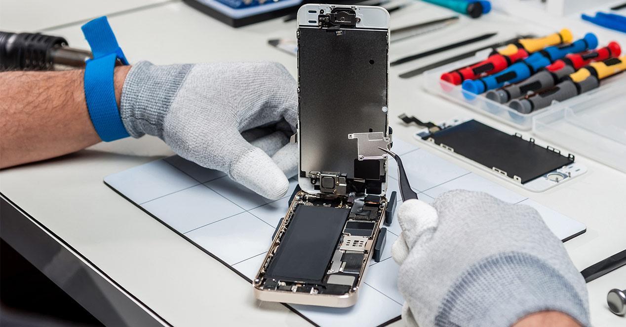 Reparación de un iPhone